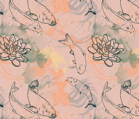 Carps Lake fabric by cissa_victoi on Spoonflower - custom fabric