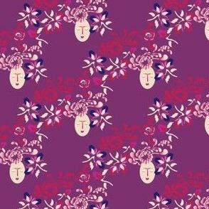 Kabuki garden Diagonal Plum_Miss Chiff Designs