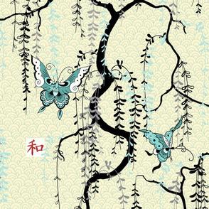 Japanese wisteria garden