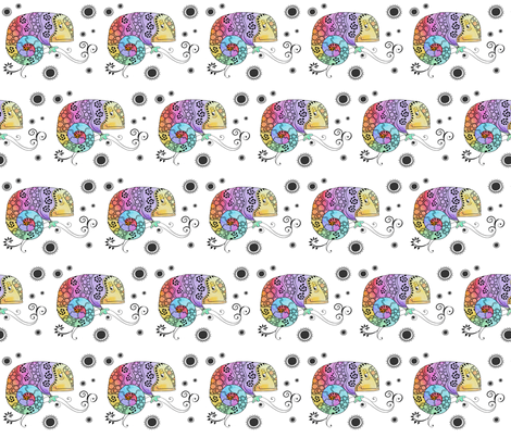 Gecko Fun fabric by lizzieludesign on Spoonflower - custom fabric