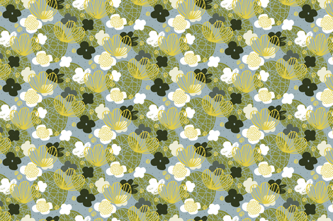 Kokedama by Friztin fabric by friztin on Spoonflower - custom fabric