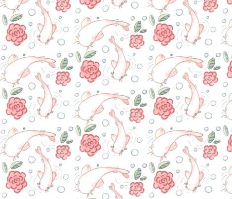 koi_fish_lined fabric by beesweet on Spoonflower - custom fabric