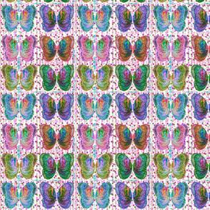 Purple Butterfly Six Wings