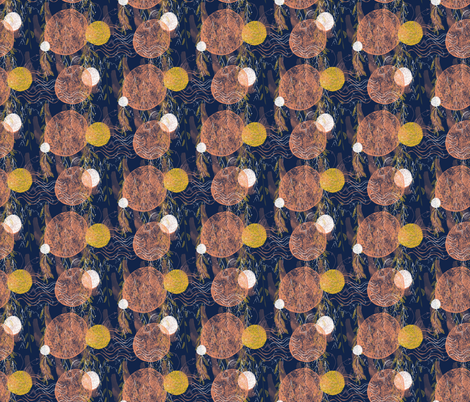 Indigo Japanese Garden  fabric by amber_coppings_designs on Spoonflower - custom fabric