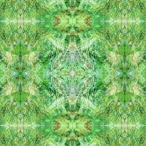 Green mixed media abstraction