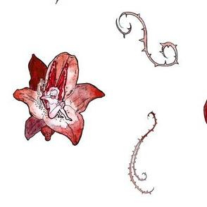 Red Faeries (Large Pattern)