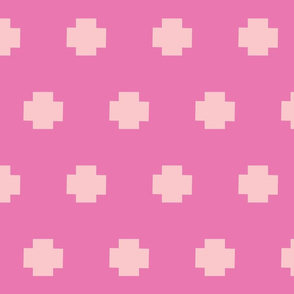 Plus signs in a row-berry pink