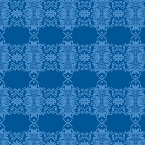 Pineapples and Pearls/Navy/Sky/Blue