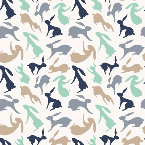 Hares fabric by ms_jenny_lemon on Spoonflower - custom fabric