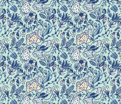 Sweet Japanese Garden fabric by elylu on Spoonflower - custom fabric