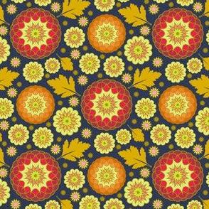 Festive Kiku - Autumn Indigo