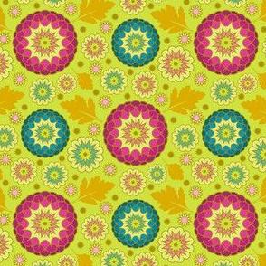 Festive Kiku - Spring Green