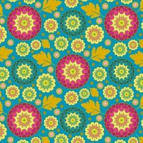 Festive Kiku - Spring Teal