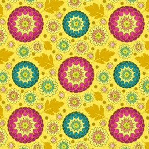 Festive Kiku - Spring Yellow