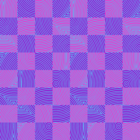 circle checker in Bob's purple/pink fabric by weavingmajor on Spoonflower - custom fabric