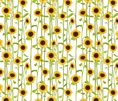 Sunflower fabric by anjin on Spoonflower - custom fabric