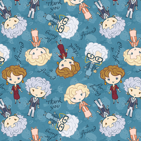 Thank You for Being a Friend (small) fabric by elladorine on Spoonflower - custom fabric