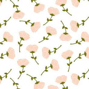 Scattered little roses blush