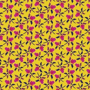 Floral Ditsy Yellow English Garden England Pink Purple_Miss Chiff Designs