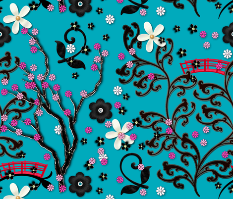 Japanese Garden fabric by faedesign on Spoonflower - custom fabric