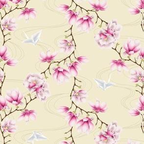 Japanese magnolias-pink