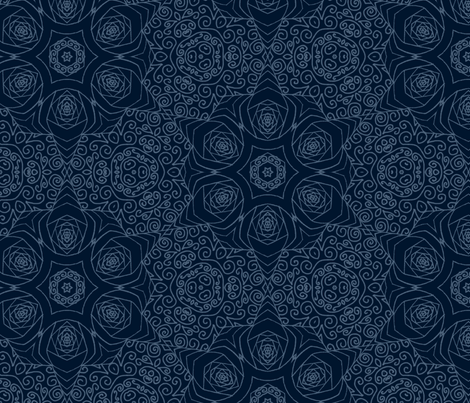 Mandala starry blue space fabric inspired me studio for Space inspired fabric