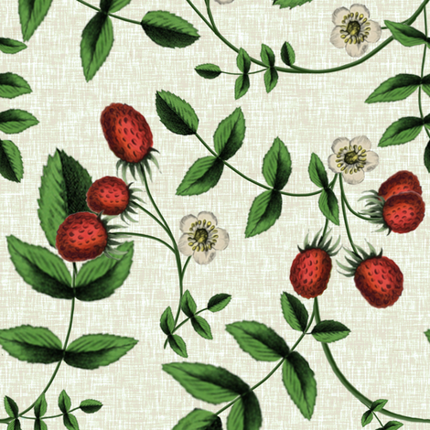 Berry Summer // Linen fabric by willowlanetextiles on Spoonflower - custom fabric