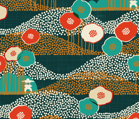 Kyoto Garden fabric by meliszawang on Spoonflower - custom fabric