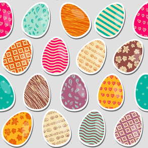Painted Easter eggs.