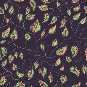 Hand-drawn floral pattern