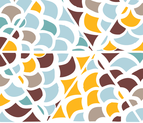 Abstract geometrical hand-drawn pattern fabric by olol on Spoonflower - custom fabric