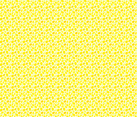 Watercolor Lemons Small fabric by dinaramay on Spoonflower - custom fabric