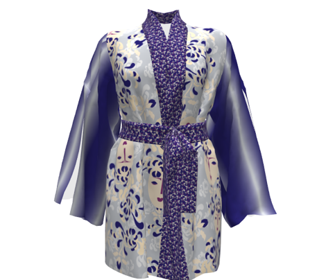 Kabuki Garden Blue Floral_Miss Chiff Designs