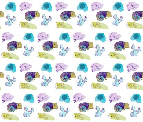 Southwestern Gecko fabric by lizzieludesign on Spoonflower - custom fabric