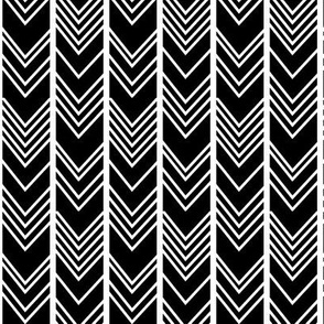 Black Chevron - herringbone