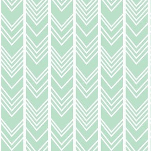 Mint Chevron - Mint herringbone