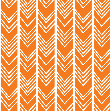 Orange Chevron - herringbone fabric by modfox on Spoonflower - custom fabric