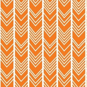 Orange Chevron - herringbone