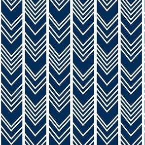 Navy Chevron - navy herringbone