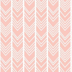 Blush Chevron - herringbone