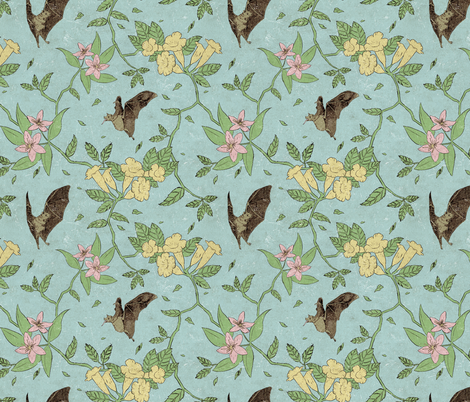 Flora Nocturnal  fabric by derek_quinlan on Spoonflower - custom fabric