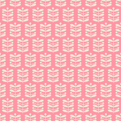 Pink Stems fabric by halloweenhomemaker on Spoonflower - custom fabric
