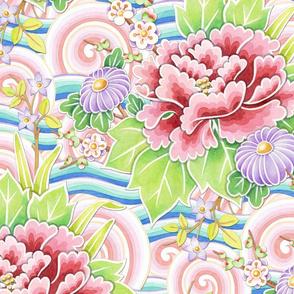 Pink Blue Kimono Bouquet