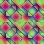 9x9 quilt square Grateful Dead pattern 4 design 1 BASIC