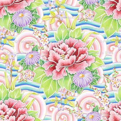 Pink Blue Kimono Bouquet smaller