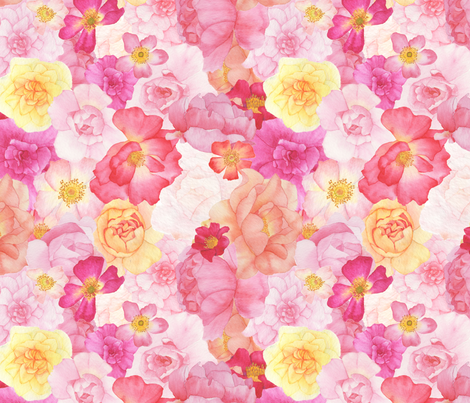 Bed of Roses fabric by mygiantstrawberry on Spoonflower - custom fabric