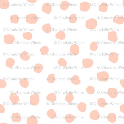 blush dots peach dots painted dot soft girls sweet baby nursery