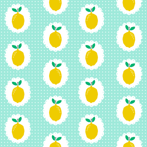 sweet lemons fruit summer fruits citrus  fabric by charlottewinter on Spoonflower - custom fabric