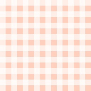 gingham blush peach summer fruit picnic