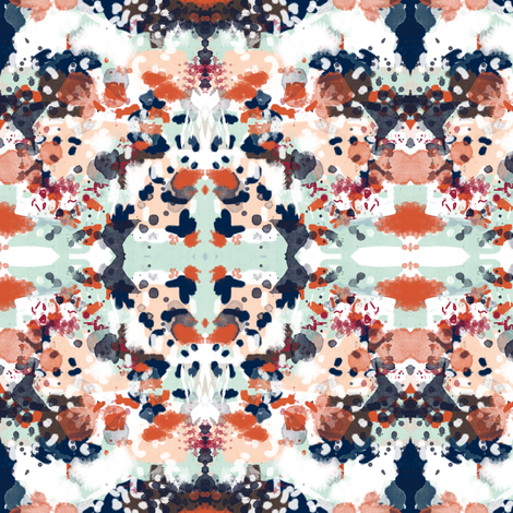 sloane abstract custom with burnt orange  fabric by charlottewinter on Spoonflower - custom fabric